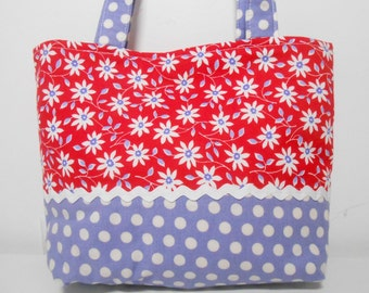 Red Tiny Tote Bag or Gift Bag Child Size Purse