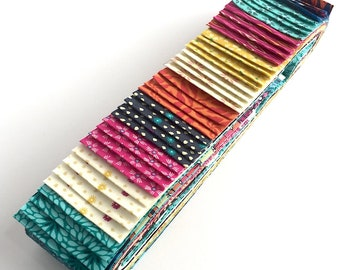 Quilting 40pc Strip Set in Makower's Sundance Fabrics - Jelly Roll, Quilting Pre-cut