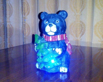 Christmas Russian bear with Christmas tree decorative gift