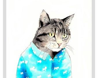 The Cat's Pyjamas - Limited Edition A3 print