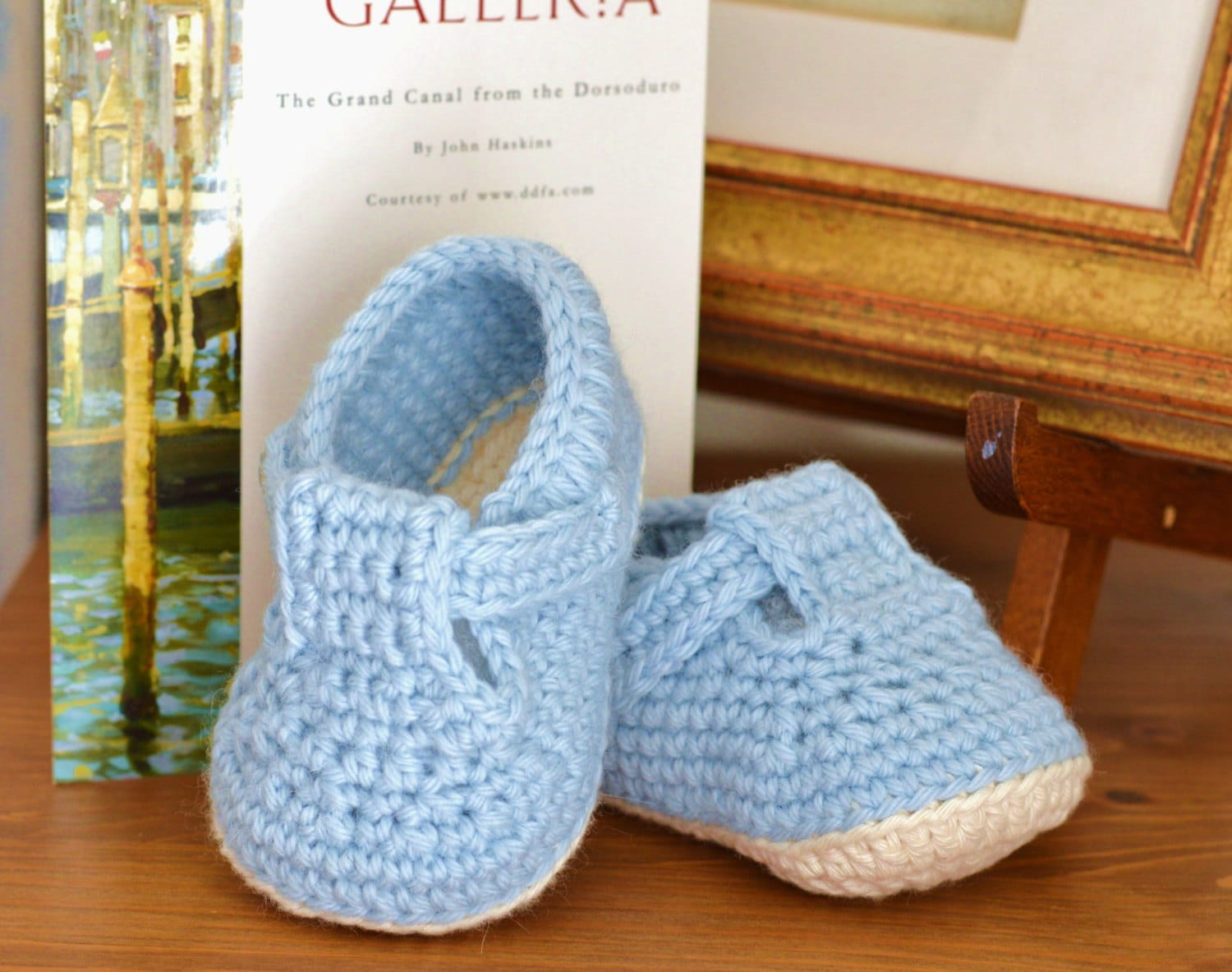 CROCHET PATTERN Baby Shoes T-Bar Baby Sandals for Baby Boy