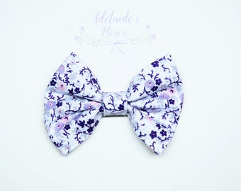 Lavender French Garden Hair Bow