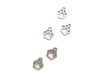 Paw Charm Paw Pad Charm Jewelry Findings 1,2, or 5 Charms Dog Paw Charm Animal Paw Charm Small Lots  Paw Print Charm