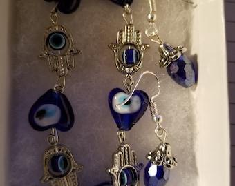 Set of bracelet and earrings