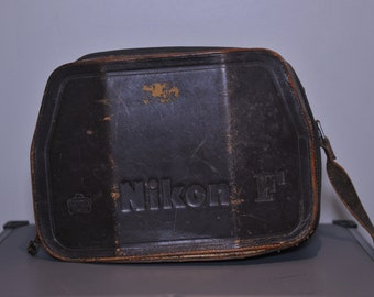 Nikon F case leather collectors item made in Japan Nippon Kogaku Japan - vintage Nikon item