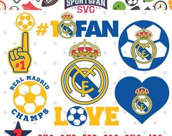 Logo de costura etsy real madrid team collection svg real madrid logo soccer mom soccer team voltagebd Choice Image