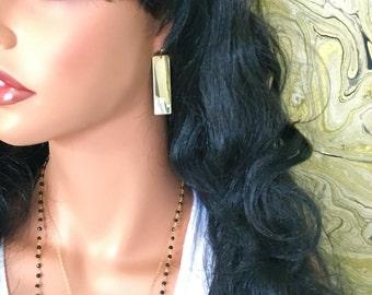 Gold Bar Earring //Gold Filled Earrings// Dangle Bar Earrings // Everyday Bar Earrings // Bold Bar earrings // Bar jewelry // Statement Bar