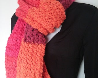 Knitted Scarf Scarlet Sizzle