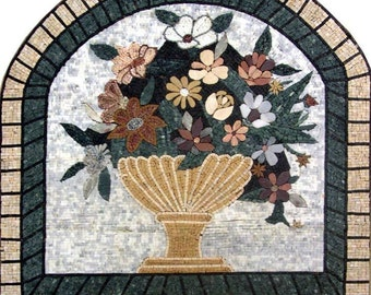 Arch Shaped Mosaic Flowers