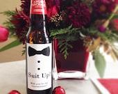 Suit Up Be My Groomsman // Beer, Liquor Label
