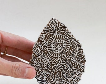50% off Hand Carved Wood Stamp 288h