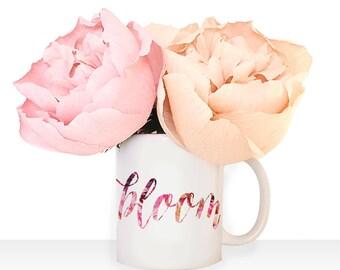 "Watercolor Floral ""bloom"" Mug"