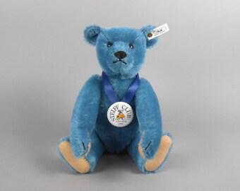 Steiff Club Exclusive Teddybar 1908 Blau 35 Blue Mohair Bear 420047 with original box