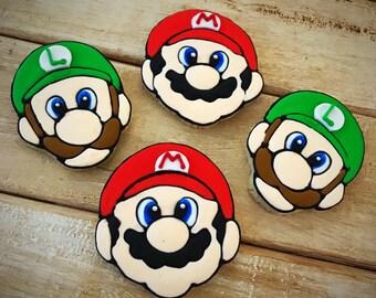 Mario and Luigi Sugar Cookies - 1 dozen
