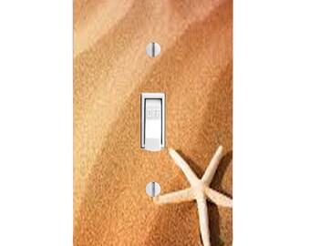 Starfish, Sand, Nautical, Beach, Bathroom Decor, Housewarming Gift, Lighting, Home Decor, Single Light Switch, Double Light Switch, Bathroom