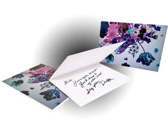 Bouquet Greeting Card - Electric Purple/Blue