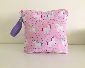 Unicorn wet bag, wet bag, baby bag, beach bag, diaper bag,  baby bag, wet bags,diaper bag