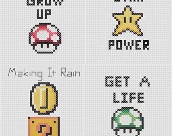Nintendo Cross Stitch (4 Patterns)