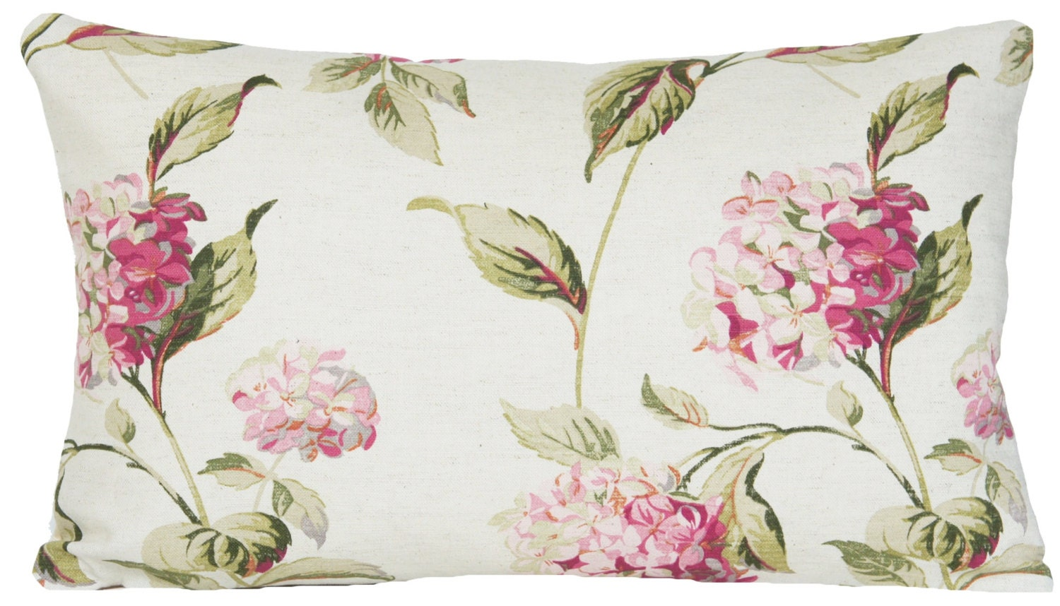 Hydrangea Flowers Pillow Throw Case Floral Cushion Cover Pink