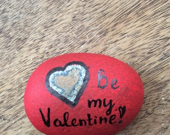 Valentine's Day painted Stone