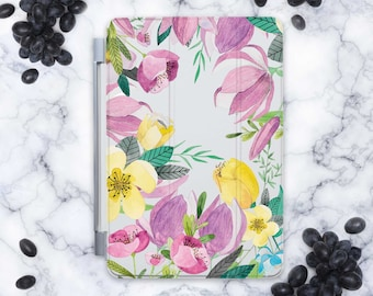 Smart Cover for iPad 5 Cover iPad 6 Case Floral iPad Pro 12.9 iPad Air Flowers iPad Air 2 Smart Case iPad Mini Case iPad 5 2017 Cover cn9078