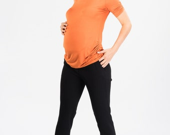 Maternity Trousers - Maternity Pants - Low Waist Maternity Pants - Plus Size Pants