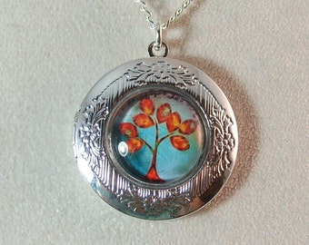 Picture Locket - Fall Colors Tree of Life