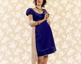 Dress BIO-Mahalt: organic cotton, fine-corduroy, blue