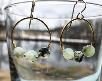 Perfect opal hoops in gold