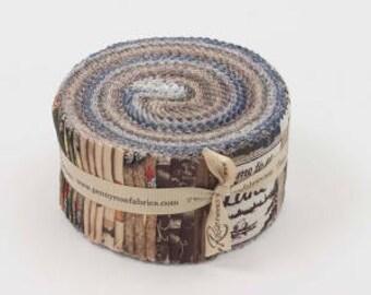 "Riley Blake Fishing Lodge Rollie Pollie Jelly Roll Strips Precut (40) 2 1/2""  #RP-6630-40"