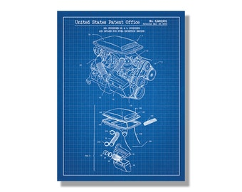Air Intake for Automotive Vehicles screen print decoration technical design blueprint schematic retro educational cool screenprint