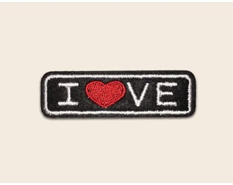 Love patch, iron on patch, sew on patch, embroidered patch, love embroidery, iron on embroidered patch