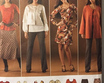 Misses' Sportswear Sewing Pattern Simplicity 2766 Size 10-18 Bust 32.5-40 Inches Uncut Complete