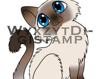 Cute digistamp kitten, download art