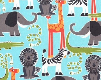 Fabric patchwork fabric animal Safari Friends Miller