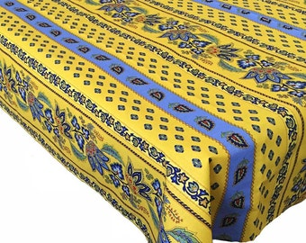 Yellow Tablecloth, Floral Tablecloth, French Tablecloth, Tablecloth and Napkins