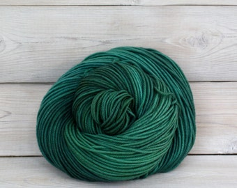 Calypso - Hand Dyed Superwash Merino Wool DK Light Worsted Yarn - Colorway: Viridian