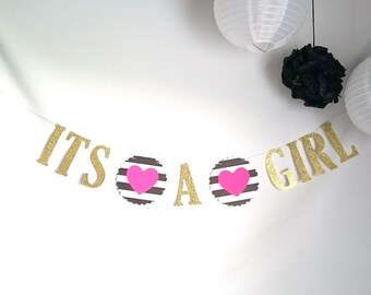 IT'S A GIRL banner, Kate Spade inspired! Baby shower, special occasion, baby girl, Girl baby shower, new addition, baby shower, oh baby