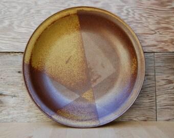 Iron Mountain Roan Mountain Large Chop Plate or Platter - Patterson Lamb Mid Century Stoneware
