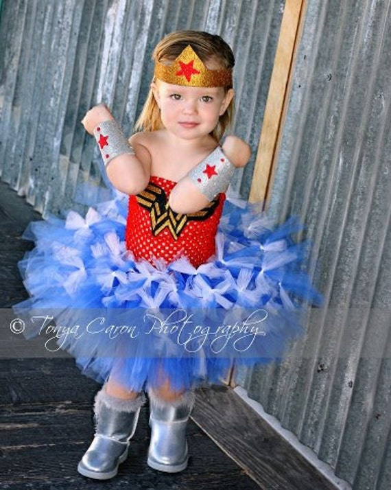 Items Similar To Wonder Woman Tutu Costume Superhero Costume Toddler Halloween Costume 2 Toddler To 4 Toddler On Etsy Sc 1 St Etsy  sc 1 st  Germanpascual.Com & Superhero Costume Toddler u0026 Kids Deluxe Superman Costume DC Fancy ...
