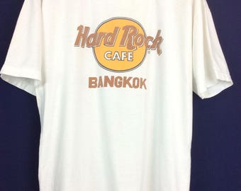 Vintage Hard Rock Cafe Bangkok Sz XL Graphic T-shirt, medium weight 100% cotton Hard Rock café Bangkok travel souvenir, vintage clothing