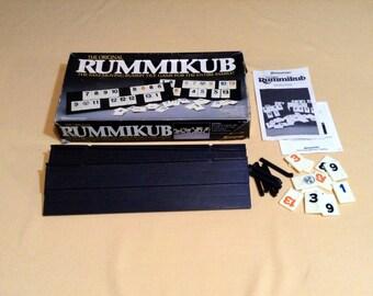Vintage Rummikub Tile Game - 1980 Pressman Toy Corp - Complete - Fast Moving Rummy Tile Game