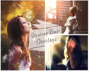 40 Fairy Dust Photoshop Overlays, Floating Dust Overlay, Bokeh Overlay, Pixie Dust, Sparkle Overlays