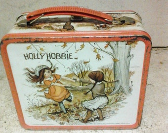 Holly Hobbie tin lunch box