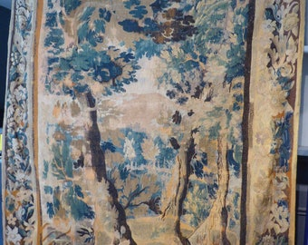 Tapestry Aubusson Decor forest period 18th