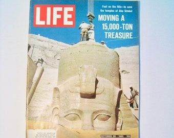 Life magazine October 29, 1965. Complete magazine with ads, articles. Vintage Mid Century history.