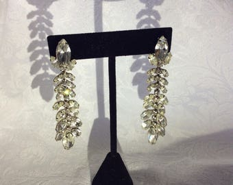 Weiss collectors Rhinestone Drop Marquis Earrings SALE!!