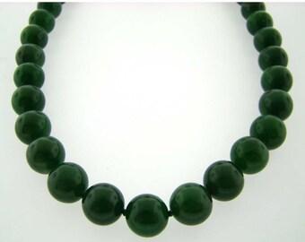 Green Nephrite Jade Necklace.