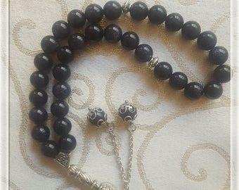 Blue Aventurine 33 beads rosary