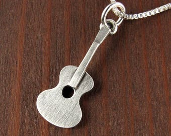 Tiny guitar necklace / pendant